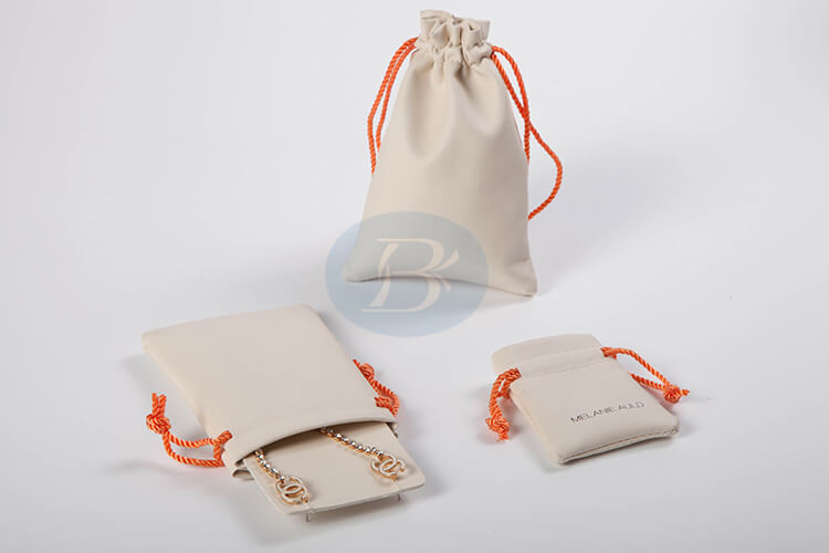 cuotom white jewelry pouches factory