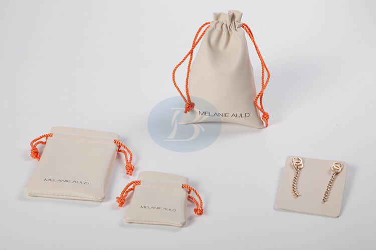 cuotom white jewelry pouches manufacturer