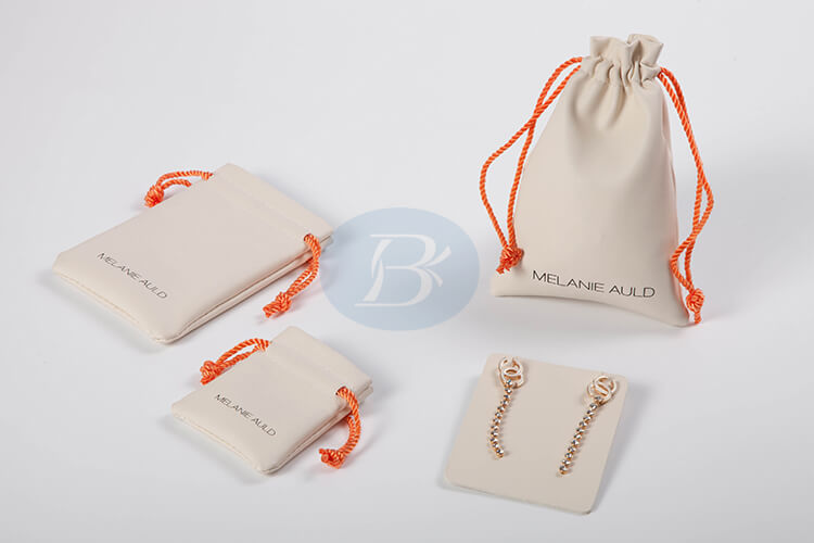 cuotom white jewelry pouches wholesale