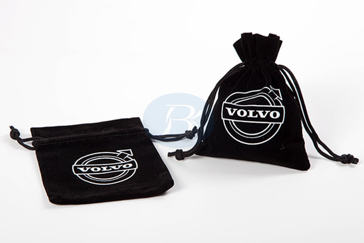 custom black velvet pouch bag wholesale