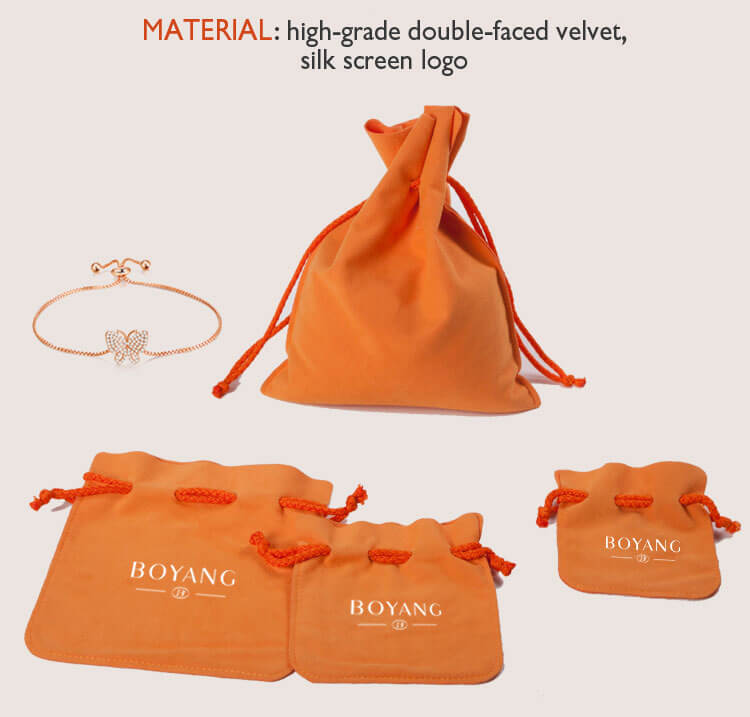 velvet drawstring jewelry gift pouches manufacturer