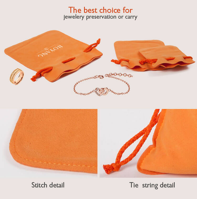 velvet drawstring jewelry gift pouches factory