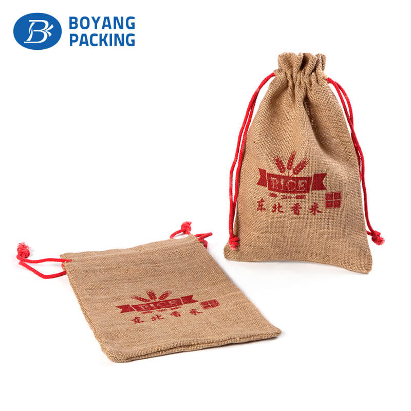 Environmental protection plain hessian jute bags wholesale