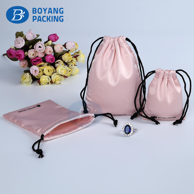 personalized satin drawstring bags,jewelry pouch manufacturer