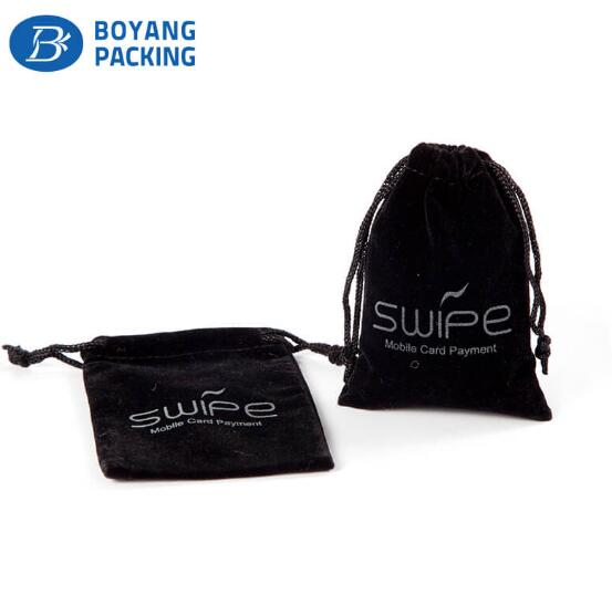 Small velvet pouches wholesale, velvet drawstring pouch supplier