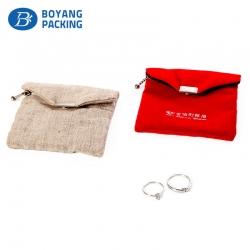 Envelope velvet pouch for jewelry, velvet jewelry factory