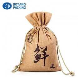 Delicacy and beauty jute rice packaging bags factory