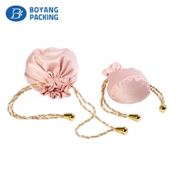 Custom pink small satin jewelry bags wholesale supplier