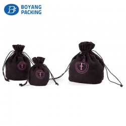 Delicate and ingenious black velvet drawstring pouch manufacturer