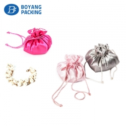 Satin drawstring pouch jewelry bag, jewelry pouch factory