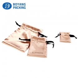 Wholesale superior quality brown satin pouch factory
