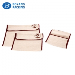Custom envelope style jute pouches wholesale factory
