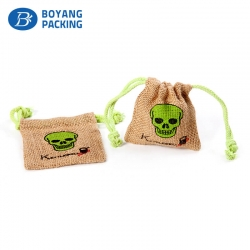 Unique logo design jute bags, small jute bags manufacturers