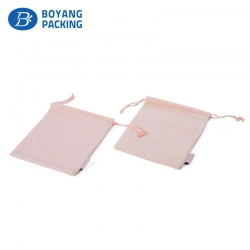 Custom beautiful and lovely pink velvet pouch suppliers
