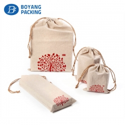 delicate linen drawstring pouch manufacturer