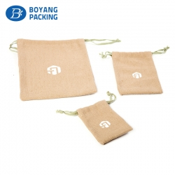 Custom mini linen drawstring bags wholesale