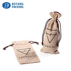 Wholesale logo customized jute pouch bags manufacturer