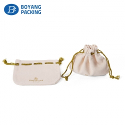 Delicate charming velvet drawstring pouches for jewelry