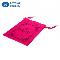 Custom red drawstring bag factory