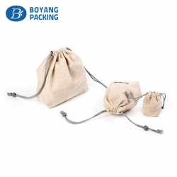 Custom succinct and practical jute pouches online wholesale manufacturer