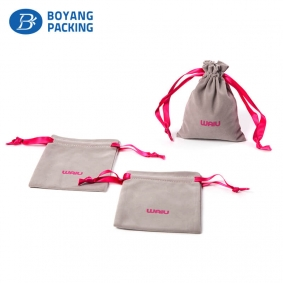Custom printed velvet pouches with logo manufacturer
