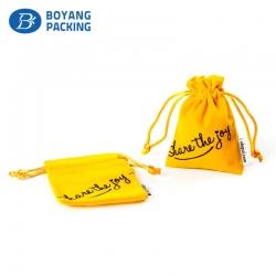 Custom velvet drawstring bags, plush velvet pouch factory