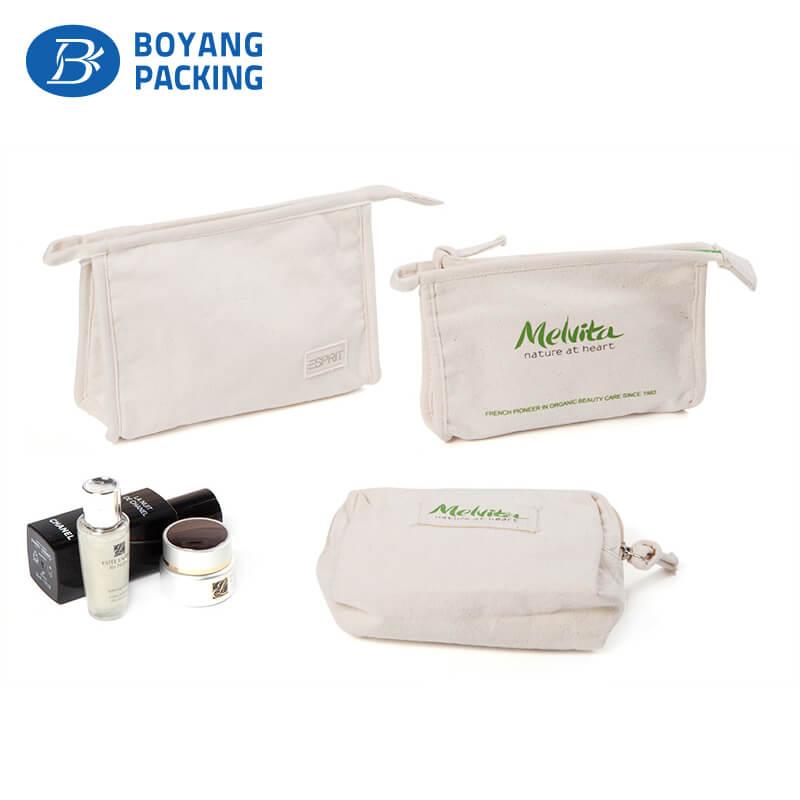 Design simple white canvas zipper pouch manufacturer