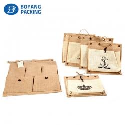 Wholesale jute bags online, custom jute bag factory