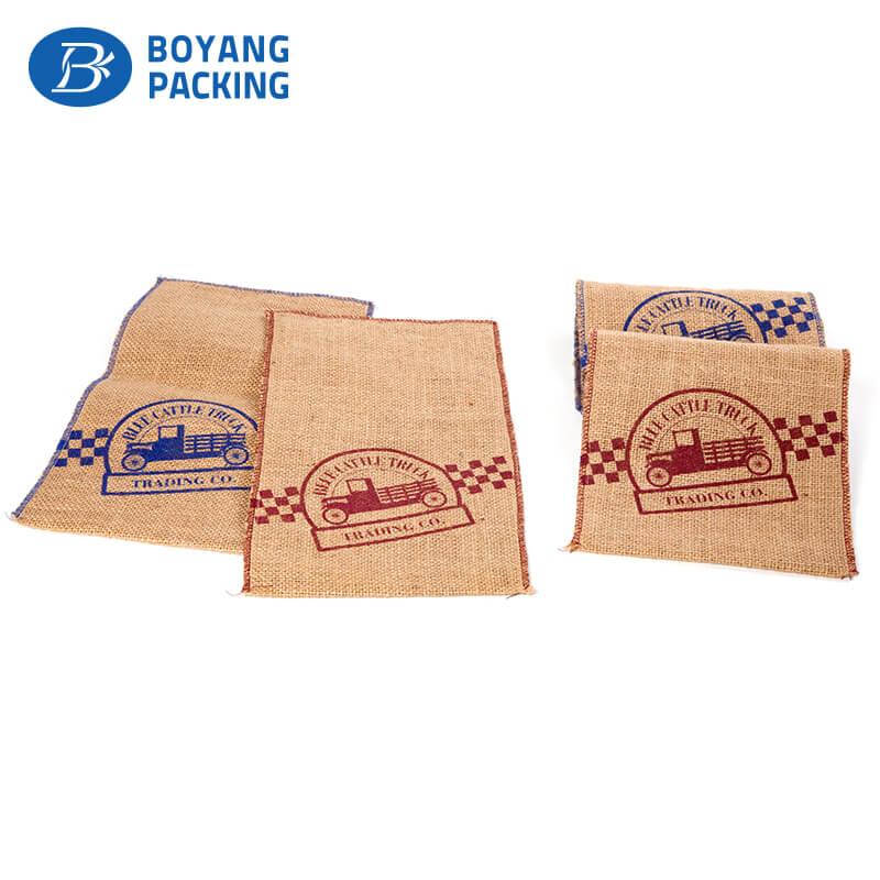 Unique design printed jute bags wholesale manufacturer