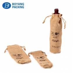 The best jute bags for wine custom wholesalers.
