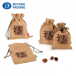 Customized luxury design paper shape of personalised jute bags
