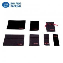 Drawstring and envelope velvet pouch bag factory