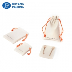 Fancy small leather jewelry pouch professional manufacturer