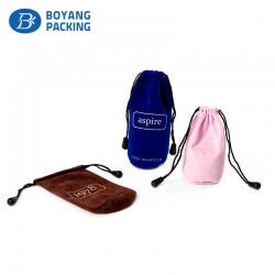 Color customizable round bottom velvet bag wholesale