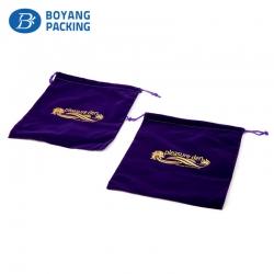 Custom velvet bags design wholesale manufacturer