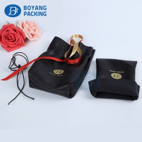 jewelry bags wholesale drawstring,Leather pouch factory.