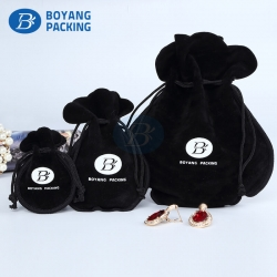 custom velvet drawstring bags, jewelry pouches wholesale.