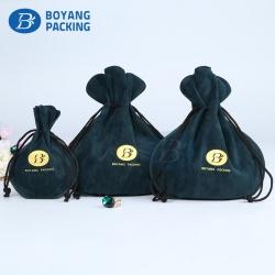 Custom velvet drawstring bags,custom jewelry pouches.