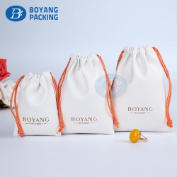 Pu jewelry pouch factory,custom drawstring pouch
