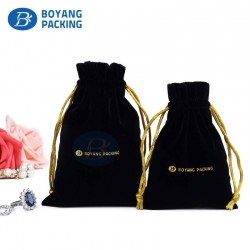 Beautifully velvet drawstring bags wholesale,custom jewelry pouches