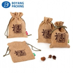 Design of Chinese character pattern jute packing bag manufacturers