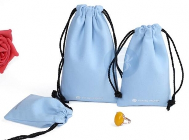 What is the role of custom drawstring pouch?