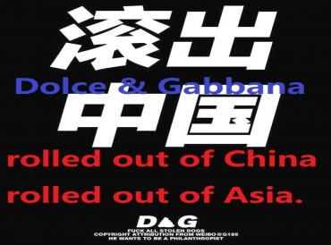 Dolce & Gabbana, rolled out of China and rolled out of Asia.