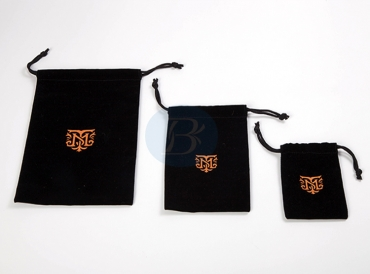 What is the difference in the material used for the velvet drawstring pouch of high quality?