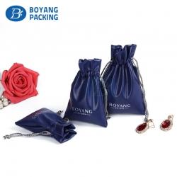 Drawstring bags Custom PU leather bags