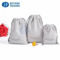 Custom small velvet drawstring bag factory