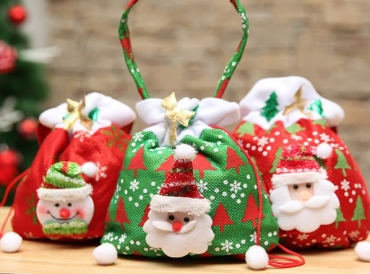 Christmas is coming, are you ready to drawstring bag with gifts