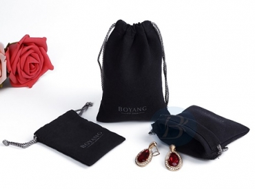 Differences between jewelry velvet bags and drawstring bags